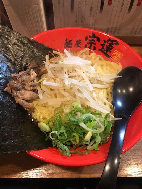 「麺屋 宗運」魚介系ラーメン 熊本・下通り/ラーメン
