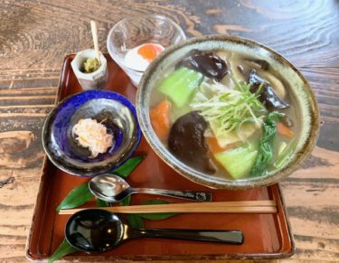 「亭ノ元」だご汁を食べるならおさえておきたい名店。自然に囲まれた落ち着いた空間で非日常を体験。熊本・北区/だご汁