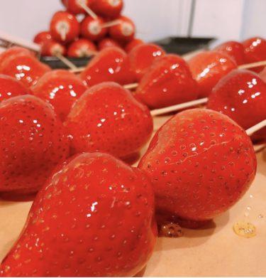 「FRUIT MER(フリュイメール)」巷で話題の「フルーツあめ」は絶品。旬のフルーツを日替わりで美しいアクアリウムと一緒に楽しめるお店♪熊本・上通り/スイーツ