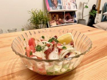 「タコサラダ」ひんやり×さっぱりとした味わい♪蒸し暑いこの時期にピッタリの一品。